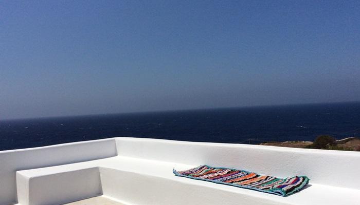 Petalides balcony view